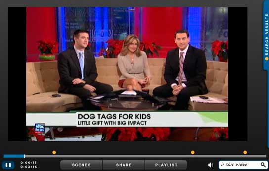 Dog Tags for Kids on Fox News
